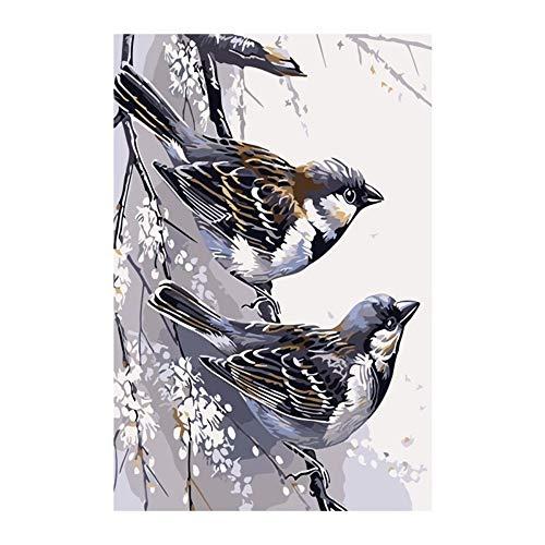 Kostüm Mädchen Pop Art - RYUANYUAN Tier Vogel Kunst Malerei Zahlen Bild by Anzahl Digitale Bilder Färbung Von Hand Einzigartiges Geschenk Raumdekor Home Pop Art 16x20 inch (40x50 cm) Rahmenlos