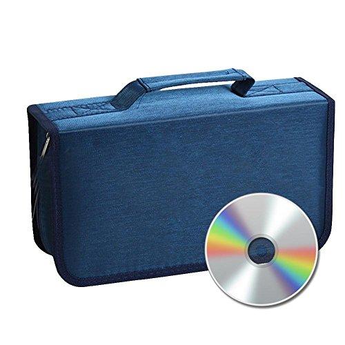 Preisvergleich Produktbild Futurepast CD Tasche für 128 CDs / DVDs Auto CD Aufbewahrung SD Ordner Brieftasche Tasche Große Kapazität Ddauerhaften Gebrauch (Blau)