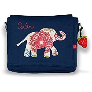 Kindergartentasche & Kindergartenrucksack in einem: Elefant Indien für Mädchen (mit Namen)