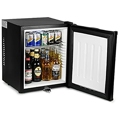 bar@drinkstuff ChillQuiet Silent Mini Fridge 24ltr Black - Completely Quiet Mini Bar, Ideal for Hotels and B&Bs by bar@drinkstuff