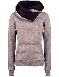 ROPALIA Femme Slim Fit Veste d'hiver Hoodie à manches longues Sweats à capuche
