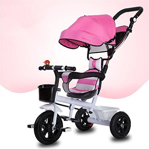 QLL-Des vélos pour enfants Sport en plein air Tricycle bébé voiture vélo enfant jouet voiture roue gonflable / mousse roue vélo 3 roues, rose (garçon / fille, 1-3-5 ans) Sans danger pour les enfants ( Couleur : B type )