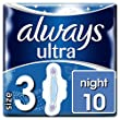 Always Ultra Night Sanitary Towels with Wings Size 3, 10 Pads