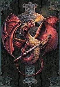 1art1 39440 Poster Gothique Dragon Céltique par Anne Stokes 91 x 61 cm