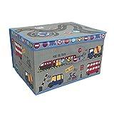 Große, faltbare Jumbo-Aufbewahrungsbox, für Kinderzimmer, Spielzeugbox, Textil, grau, 50 x 30 x 40 cm