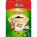 Melitta, 80 Filtres à Café, Taille 102, Pour Cafetière à Filtre, Original, Brun