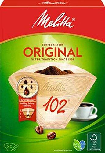 Melitta Filtertüten Naturbraun 102 / 80 - Braun Für Kaffee-filter