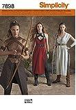 7898 Kostüm für Damen, Kriegerin, Amazone, Simplicity, H5 (32 - 40)