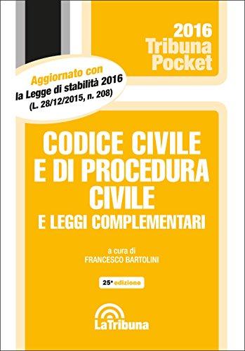 Codice civile e di procedura civile e leggi complementari Codice civile e di procedura civile e leggi complementari 51fEK9ATboL