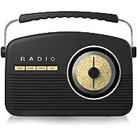 Akai A60010DAB Retro DAB Radio Alarm Clock with LCD Display and Backlight - Black - ukpricecomparsion.eu