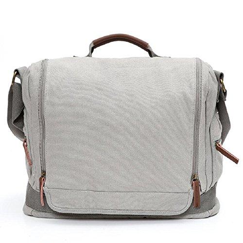 LJ&L Outdoor-Segeltuch Kuriertasche, wandernde Retro-Tasche, praktische Verschleiß-resistente reißfeste hochwertige Handtaschen-Umhängetasche B