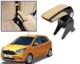 #6: Auto Pearl - Premium Quality Beige Chrome Armrest Console Box For - Ford Figo New (2015)