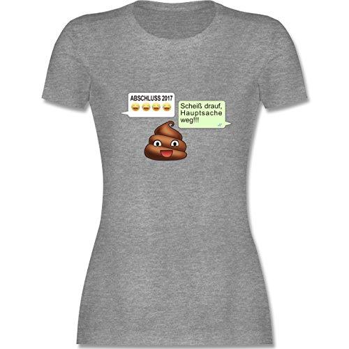 Abi & Abschluss - ABSCHLUSS 2017 - Scheiß drauf Messenger - tailliertes Premium T-Shirt mit Rundhalsausschnitt für Damen Grau Meliert