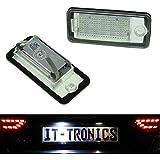 LED feux du plaque convient pour Audi A3 8P, A4 B6+B7 A5 Cabrio, A6 4F, Q7