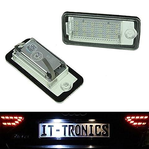 LED feux du plaque convient pour Audi A3 8P, A4 B6+B7 A5 Cabrio, A6 4F, Q7 - Audi A5 Cabrio