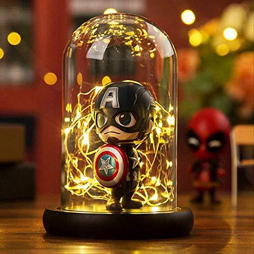 Diy Creative Avengers Night Light Capitán América Spiderman Iron Man Niños Habitación Dormitorio Lámpara Decorativa Iluminación Usb Capitán América (S)