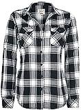 Brandit Amy Flanell Checkshirt Girl-Hemd schwarz/weiß - L