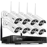 ZOSI 960P NVR 8CH 8 Cámara SIN Disco Duro Auto Pair Sistema Inalámbrico Impermeable Visión Nocturna