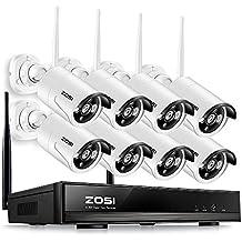 ZOSI 960P AUTO-PAIR WIFI Sans Fil NVR/DVR 8CH Enregistreur Lecteur 8 Caméras IP Kit de Vidéo Surveillance H.264 Vidéo 1.3MP 960p 30m Vision Nocturne Camera de Surveillance Exterieur et Visualiser par Téléphone à Distanche Sans HDD