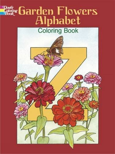 Garden Flowers Alphabet Coloring Book (Dover Design Coloring Books) by Ruth Soffer (2004-03-29) (Alphabet 29-designs)