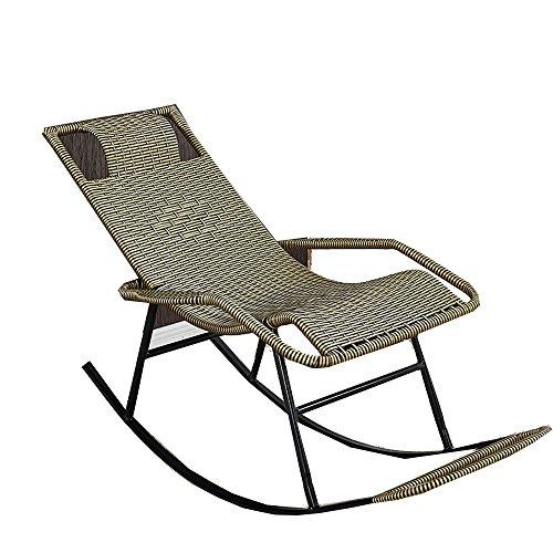 TLMY Schaukelstuhl Stock Stuhl Erwachsene Siesta Lounge Wohnzimmer Balkon Faul Stuhl Sessel Ältere Freizeit Schaukelstuhl Klappstuhl (Color : A)
