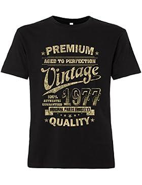 ShirtWorld - Aged to Perfection 1977 zum 40. Geburtstag - T-Shirt