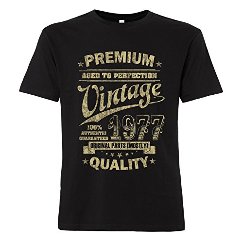 ShirtWorld - Aged to Perfection 1977 zum 40. Geburtstag - T-Shirt L