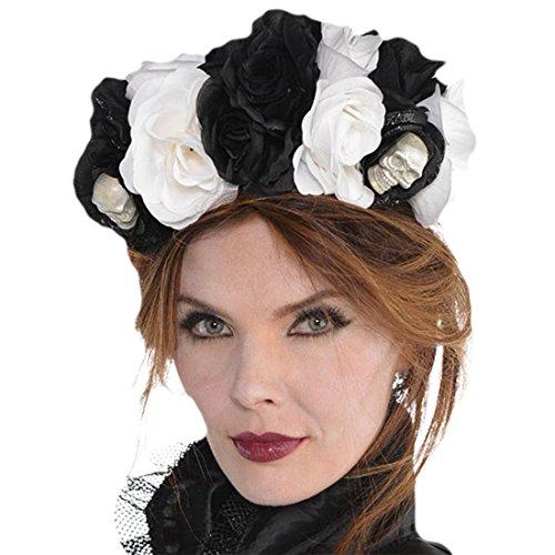 Einfache Halloween Nerd Kostüme (Fancy Ole - Kostüm Karneval Haarreif Day of the Dead Sugar Skull Rosen,)