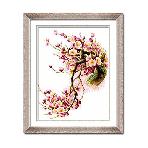 domei-vorgedruckte-kreuzstich-set-red-plum-flower-tree-157-x-189-inches