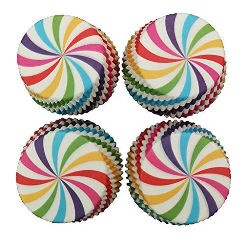 TShopm 100 Stück Muffin Cupcake Wrapper Pappbecher Ei Tart Ölfest Fall Home DIY Küche Backen Dekorieren Werkzeug Geburtstag Hochzeit Zubehör