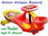 #3: TruGood Baby Panda Free Wheel Musical Magic Swing Car