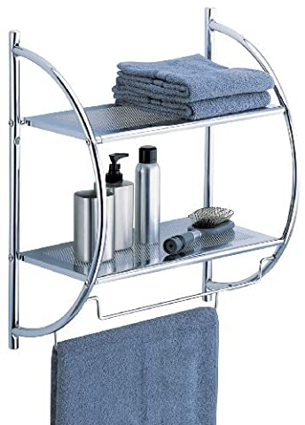 Organize It All 2-Tier Shelf with Towel Bars (1753) by Organize It All