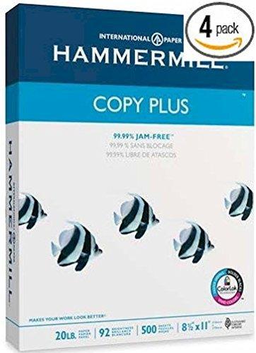 4x Hammermühle (Technik) Copy Plus Mehrzweck/Fax/Laser/Inkjet Drucker Papier, Buchstabe Größe (8,5x 11), 92Helligkeit, 20lb, säurefrei, Ries, 500Blatt Gesamt (105007)