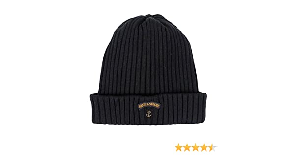bf9482435e0e5 Paul and Shark Men s Virgin Wool Beanie Hat One Size Black  Amazon.co.uk   Sports   Outdoors