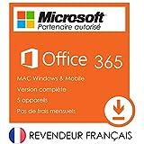 Avec cet achat, vous pourrez profiter de toutes les applications Microsoft Office 365, y compris Word, Excel, PowerPoint, Access, OneNote, OneDrive, Outlook, Publisher ainsi que le reste de la suite de logiciel. Veuillez noter que Publisher et Access...