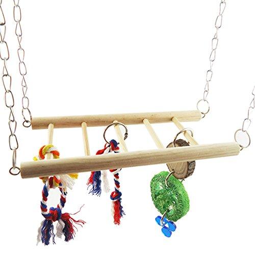 Hamster Parrot Bockleiter Kauen Spielzeug Parrot Flying Bridge Swing Plattform