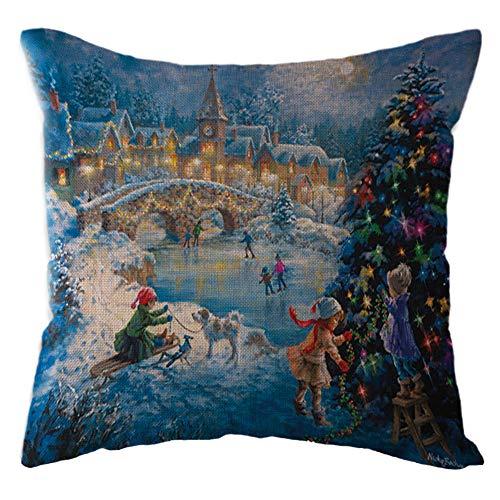 4t Tee (Littay The Best Gift Santa Claus Kissenbezug, Leinen, Sofakissenbezug, Heimdekoration, 45 x 45 cm, Leinen, h, See Description)