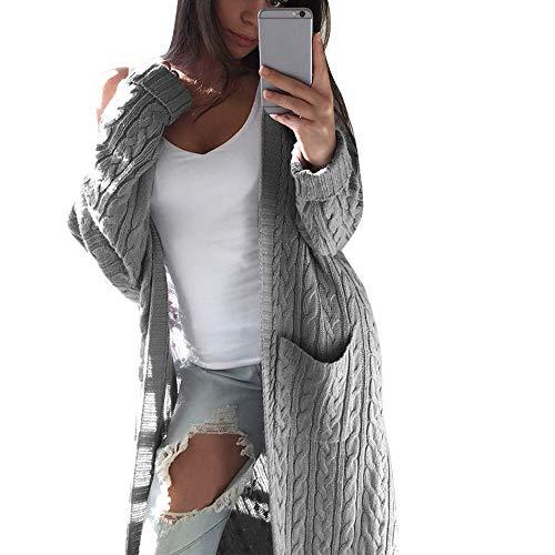 Felicove Damen Chiffonhemd,Mode Strickjacken Blumen Outerwear Warme Mantel SolideWeihnachten Unterwäsche Elegant Bluse Bohemian Kleider Tops Freizeit Windbreaker 2018 Strickpullover
