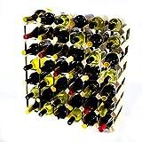 Cranville wine racks Cantinetta Classica per 42 Bottiglie di Vino, Realizzata in Legno di Pino e Metallo galvanizzato, già montata