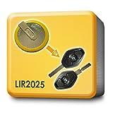 Akku LIR2025 Schlüssel Fernbedienung ERSATZ. Passend für BMW 3 5 7 X3 X5 E46 E38 E39 E60 E61 E53 E83