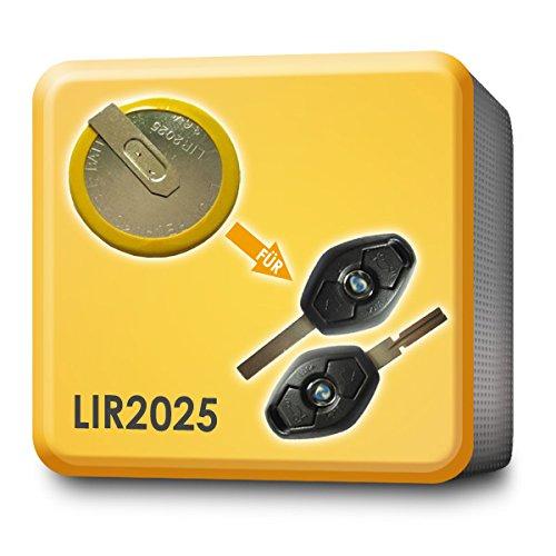 Batteria di ricambio per chiave telecomando dell'auto, per BMW 3, 5, 7, X3,E46,E39,X5,E53,E38,E60,E61, E83, rif. LIR2025