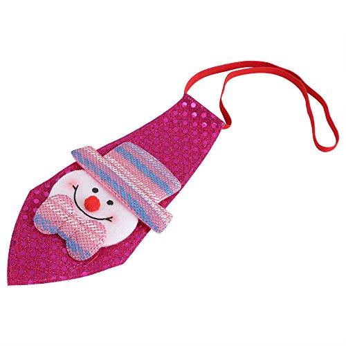 Weihnachten Deko Accessoire Kinder Krawatten Elch kreative Weihnachtsbögen Kostüm Weihnachtsgeschenk Erwachsene für Merry Christmas Party Weihnachtsfeier Weihnachtsmarkt(Rosa mit (Kreative Tanz Kostüme)