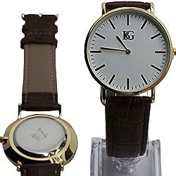 Freimaurer Gravur Armbanduhr Freimaurer Armbanduhr Echtes Leder Maurer 24K vergoldet Luxus Box