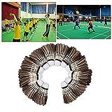 GFEU confezione da 12volani badminton, Fast piuma d' oca naturale piuma Ball perfetto per allenamenti di intrattenimento per interni ed esterni