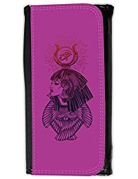 Large Faux Leather Wallet // Q08070621 egyptian goddess 1 Byzantine // Large Size Wallet