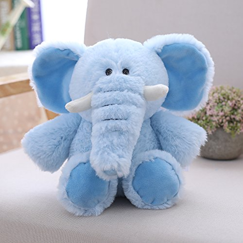 VERCART Tier Spielzeug Stofftier Schlenkertier Geschenk Für Baby Kinder Kissen Geburtsgeschenk Kleiner Elefant 30cm Blau