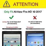 Fintie Hülle Fire HD 10 Tablet (7. Generation - 2017) - Folio Kunstleder Schutzhülle Cover mit Ständerfunktion für All-New Amazon Fire HD 10,1 Zoll Tablette, Jade