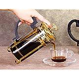 Deals Mart 350ML Stainless Glass Coffee Tea Pot Water Kettle Cafetiere French Filter Coffee Tea Kettle Press Plunger Jug Flower Tea Brewer