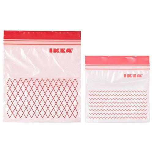 istad - sacchetto di plastica, colore verde, 60 unità, con 30 sacchetti da 0,4 l e 30 sacchetti da 1 l, richiudibili e riutilizzabili plastic bag verde