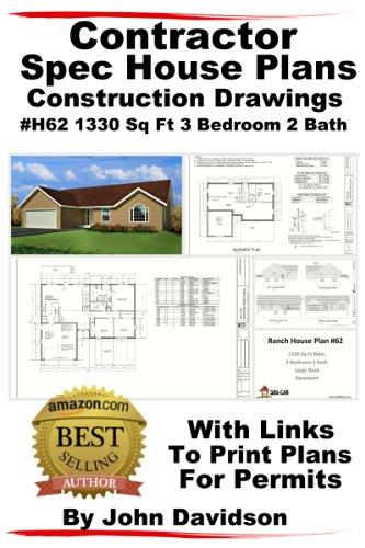 Contractor Spec House Plans Blueprints Construction Drawings 1200 Sq ...